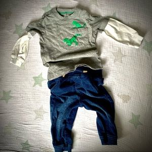4 for $20 👶🏼 Dino Tee & Jeans Outfit